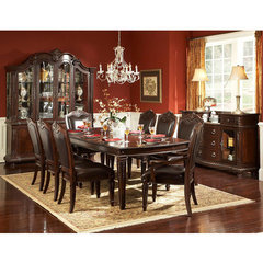 Buy Homelegance Palace 9 Piece 72x44 Dining Room Set in Rich Brown on sale online