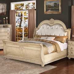 Buy Homelegance Palace II Sleigh Bed in Antique White Wash on sale online