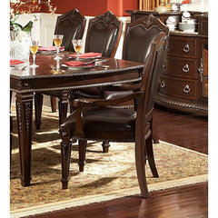 Buy Homelegance Palace Leather Arm Chair in Rich Brown on sale online