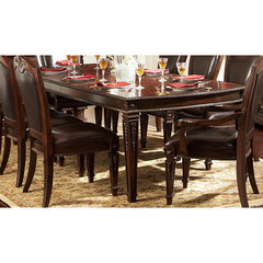 Buy Homelegance Palace Rectangular 72x44 Dining Table in Rich Brown on sale online