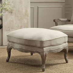 Buy Homelegance Parlier Ottoman in Grey Weathered & Natural Fabric on sale online