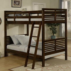Buy Homelegance Paula Twin/Twin Bunkbed in Dark Cherry on sale online