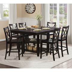 Buy Homelegance Philipsburg 7 Piece 64x48 Counter Height Set in Deep Cherry on sale online