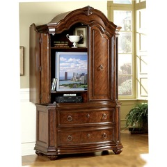 Buy Homelegance Prenzo 2 Drawer Armoire in Cherry on sale online
