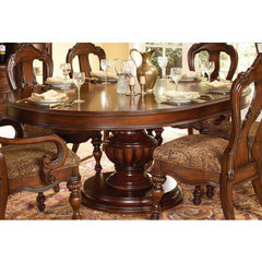 Buy Homelegance Prenzo 60x60 Round Dining Table in Warm Brown on sale online