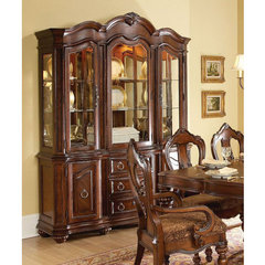 Buy Homelegance Prenzo Buffet w/ Hutch in Warm Brown on sale online