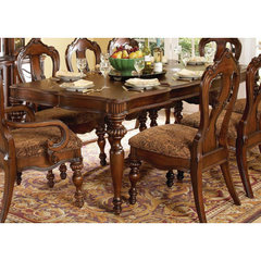 Buy Homelegance Prenzo Rectangular 78x44 Dining Table in Warm Brown on sale online