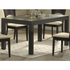 Buy Homelegance Radius 60x36 Dining Table w/ Glass Top on sale online