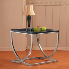 Buy Homelegance Recca 24 Inch Square End Table in Black on sale online