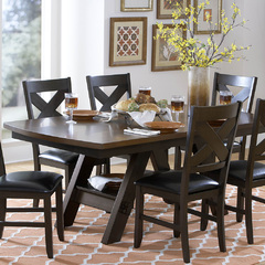 Buy Homelegance Rockville 78x42 Dining Table w/Shelf in Espresso on sale online