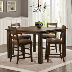 Buy Homelegance Ronan 5 Piece 56x38 Counter Height Table Set in Burnish Rustic on sale online
