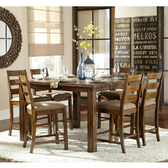 Buy Homelegance Ronan 7 Piece 56x38 Counter Height Table Set in Burnish Rustic on sale online
