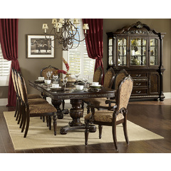 Buy Homelegance Russian Hill 10 Piece 84x44 Extension Dining Room Set in Cherry on sale online