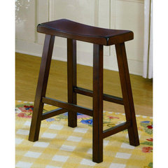 Buy Homelegance Saddleback 24 Inch Counter Height Stool in Cherry on sale online