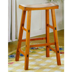 Buy Homelegance Saddleback 24 Inch Counter Height Stool in Oak on sale online