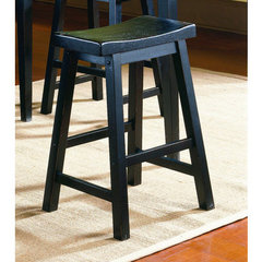 Buy Homelegance Saddleback 29 Inch Pub Chair in Black Sand on sale online