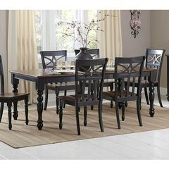 Buy Homelegance Sanibel Contemporary 60x42 Rectangular Dining Table in Black on sale online