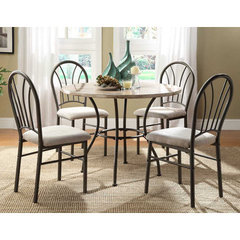 Buy Homelegance Shawnee 5 Piece 40 Inch Round Dining Room Set in Grey on sale online