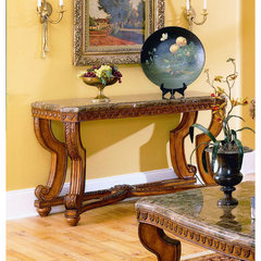 Buy Homelegance Tarantula Marble Top 50x20 Sofa Table on sale online