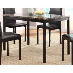 Buy Homelegance Tempe Transitional 48x30 Rectangular Dining Table in Black on sale online