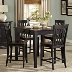 Buy Homelegance Three Falls 5 Piece 40x40 Counter Table Set in Brown & Black on sale online