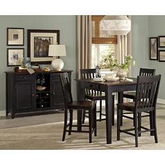 Buy Homelegance Three Falls 6 Piece 40x40 Counter Table Set in Brown & Black on sale online