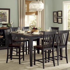 Buy Homelegance Three Falls 7 Piece 54x36 Counter Table Set in Brown & Black on sale online