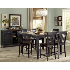Buy Homelegance Three Falls 8 Piece 54x36 Counter Table Set in Brown & Black on sale online