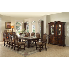 Buy Homelegance Thurmont 10 Piece 82x44 Extension Dining Room Set in Cherry on sale online