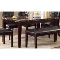 Buy Homelegance Thurston Transitional 64x38 Rectangular Dining Table in Espresso on sale online