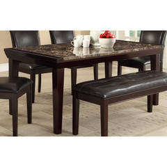 Buy Homelegance Thurston Transitional 68x38 Rectangular Dining Table in Espresso on sale online