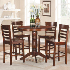 Buy Homelegance Wayland 5 Piece Round 42x42 Counter Height Set in Antique Oak on sale online