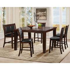 Buy Homelegance Weldon 6 Piece 59x40 Counter Height Set in Espresso Dark Cherry on sale online