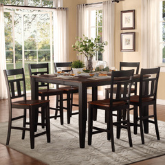 Buy Homelegance Westport 7 Piece 54x36 Counter Height Set in Cherry & Black on sale online