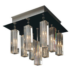 Buy Trend Lighting Horizons I 3-Sided Cut Crystal Flush Mount Ceiling Light on sale online