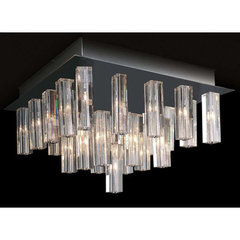 Buy Trend Lighting Horizons II 3-Sided Cut Crystal Flush Mount Ceiling Light on sale online