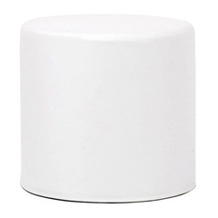 Buy Howard Elliott Atlantis White No Tip Cylinder Ottoman on sale online