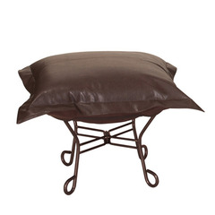 Buy Howard Elliott Avanti Pecan Scroll Puff Ottoman - Mahogany Frame on sale online