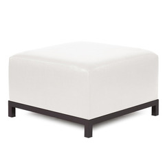 Buy Howard Elliott Axis Ottoman Avanti White Mahogany Frame on sale online