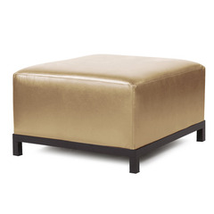 Buy Howard Elliott Axis Ottoman Shimmer Gold Mahogany Frame on sale online