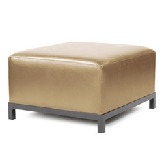 Buy Howard Elliott Axis Ottoman Shimmer Gold Titanium Frame on sale online