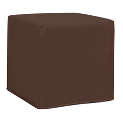 Buy Howard Elliott Seascape Chocolate No Tip Block Ottoman on sale online