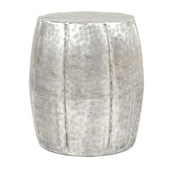 Buy IMAX Worldwide 17x17 Round Vanora Accent Table in Silver on sale online