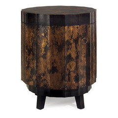 Buy IMAX Worldwide 20 Inch Round Accent Table in Gold and Black  on sale online