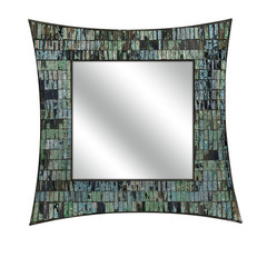 Buy IMAX Worldwide 20 Inch Square Aramis Mosaic Glass Wall Mirror on sale online
