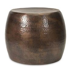 Buy IMAX Worldwide 21x21 Round Nuria Short Accent Table in Bronze on sale online