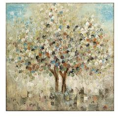 Buy IMAX Worldwide 36 Inch Square Seasons Handpainted Oil Canvas in Multicolor on sale online