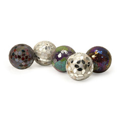 Buy IMAX Worldwide Abbot Mosaic Deco Balls (Set of 5) on sale online