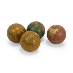 Buy IMAX Worldwide Antique Finish Globe 4 Inch Spheres (Set of 4) on sale online