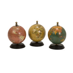 Buy IMAX Worldwide Antique Finish Mini Globe on Wood Base (Set of 3) on sale online